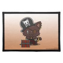 Kawaii Kitty (Pirate) Placemat