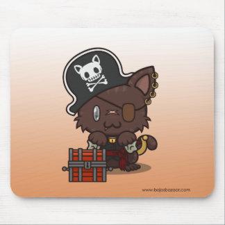 Kawaii Kitty (Pirate) Mousepads