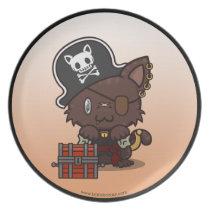 Kawaii Kitty (Pirate) Plate