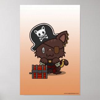 Kawaii Kitty (Pirate) Poster