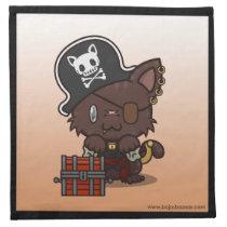 Kawaii Kitty (Pirate) Napkins (4x)