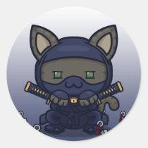 Kawaii Kitty (Shinobi) Sticker Sheet