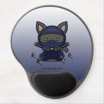 Kawaii Kitty (Shinobi) Gel Mousepad