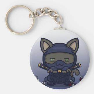 Kawaii Kitty (Shinobi) Basic Round Button Keychain