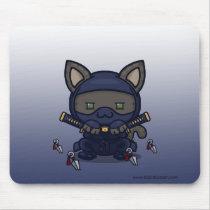 Kawaii Kitty (Shinobi) Basic Mousepad