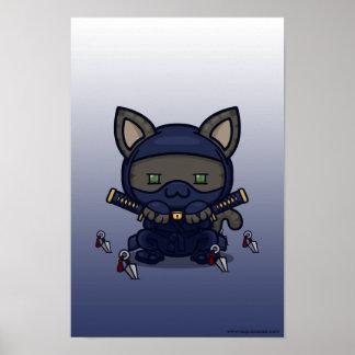 Kawaii Kitty (Shinobi) Poster