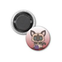 Kawaii Kitty (Siamese) Magnet