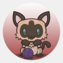 Kawaii Kitty (Siamese) Sticker Sheet