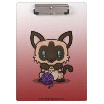 Kawaii Kitty (Siamese) Clipboard