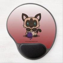 Kawaii Kitty (Siamese) Gel Mousepad