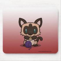 Kawaii Kitty (Siamese) Basic Mousepad