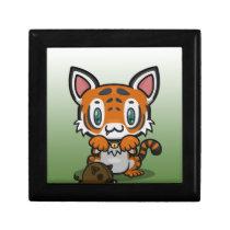 Kawaii Kitty (Tiger) Hinged Gift Box