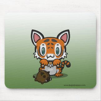 Kawaii Kitty (Tiger) Mouse Pads