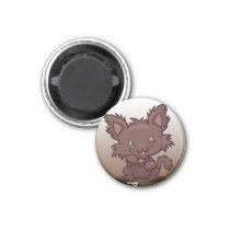 Kawaii Kitty (Werewolf) Magnet