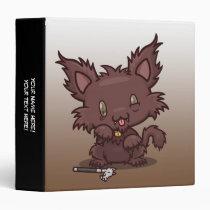 "Kawaii Kitty (Werewolf) 1.5"" Binder"