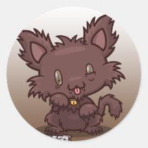 Kawaii Kitty (Werewolf) Sticker Sheet
