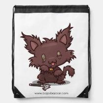 Kawaii Kitty (Werewolf) Drawstring Backpack