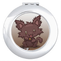 Kawaii Kitty (Werewolf) Compact Mirror
