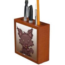 Kawaii Kitty (Werewolf) Desk Organizer