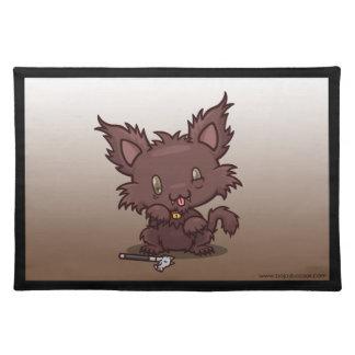 Kawaii Kitty Werewolf Place Mat
