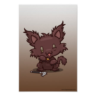Kawaii Kitty (Werewolf) Poster