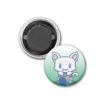 Kawaii Kitty (White) Magnet