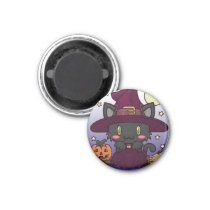 Kawaii Kitty (Witch) Magnet