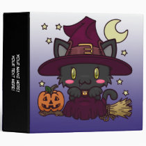 """Kawaii Kitty (Witch) 2"""" Binder"""