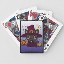 Kawaii Kitty (Witch) Bicycle Playing Cards