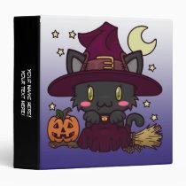 """Kawaii Kitty (Witch) 1.5"""" Binder"""