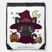 Kawaii Kitty (Witch) Drawstring Backpack