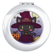 Kawaii Kitty (Witch) Compact Mirror