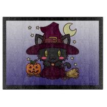 Kawaii Kitty (Witch) Cutting Board