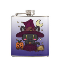 Kawaii Kitty (Witch) Flask