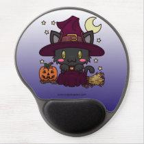 Kawaii Kitty (Witch) Gel Mousepad