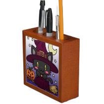 Kawaii Kitty (Witch) Desk Organizer