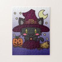 Kawaii Kitty (Witch) Jigsaw Puzzle