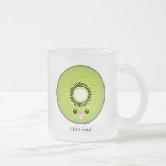Kawaii Kiwi Frosted Glass Coffee Mug