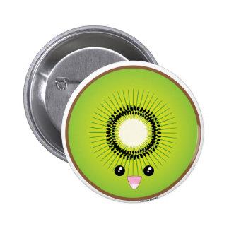 Kawaii Kiwi Pinback Button