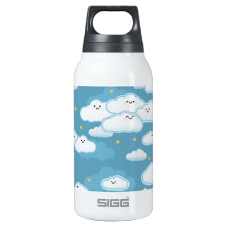 kawaii klouds insulated water bottle