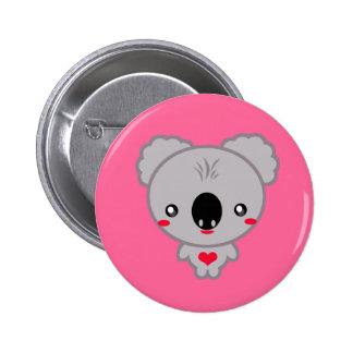 Kawaii Koala Bear 2 Inch Round Button