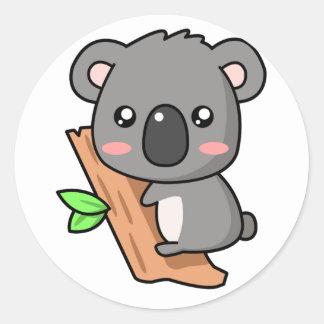 Kawaii Koala Classic Round Sticker