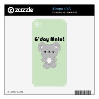 Kawaii Koala iPhone skin Decals For The iPhone 4S
