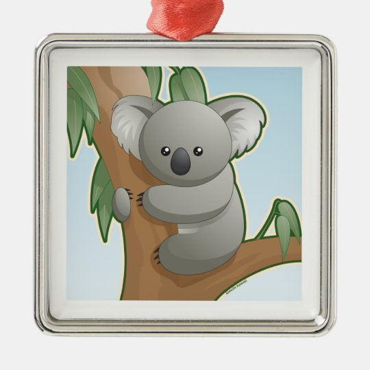 Kawaii Koala Metal Ornament