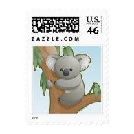 Kawaii Koala Postage Stamps