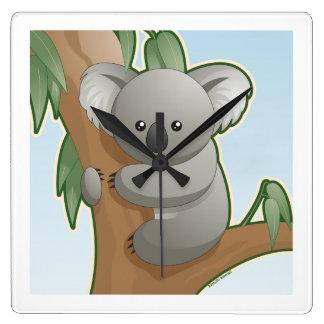 Kawaii Koala Square Wallclock