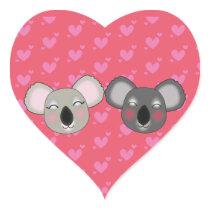 Kawaii koalas in love sticker