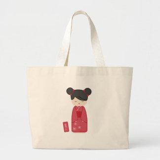 Kawaii Kokeshi Canvas Bag