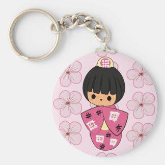 Kawaii Kokeshi Doll keychain