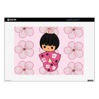 Kawaii Kokeshi Doll laptop skin